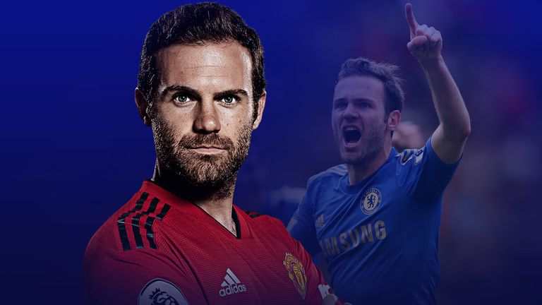 Juan Mata swapped Chelsea for Manchester United in 2014
