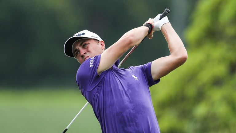 Woodland, Leishman, Sharma tied for lead at CIMB Classic