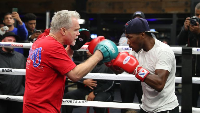 Toka Kahn Clary works with legendary trainer Freddie Roach