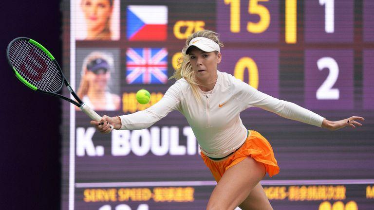 Pliskova eases past Boulter to reach Tianjin semis