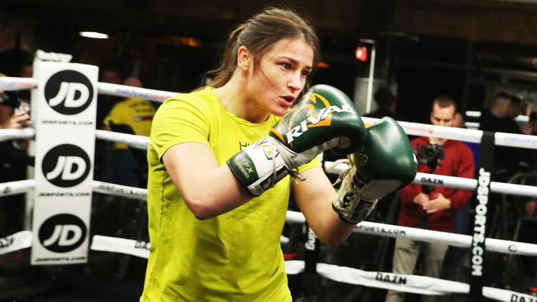 Katie Taylor has completed her training outside of New York