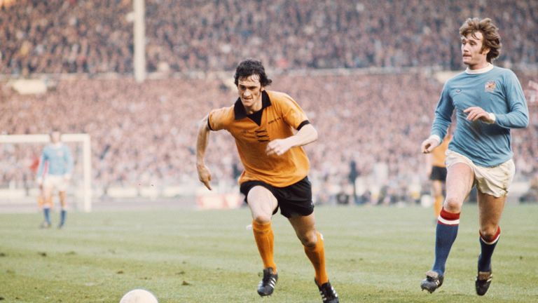 Hibbitt scored for Wolves in their 1974 League Cup final win over Manchester City
