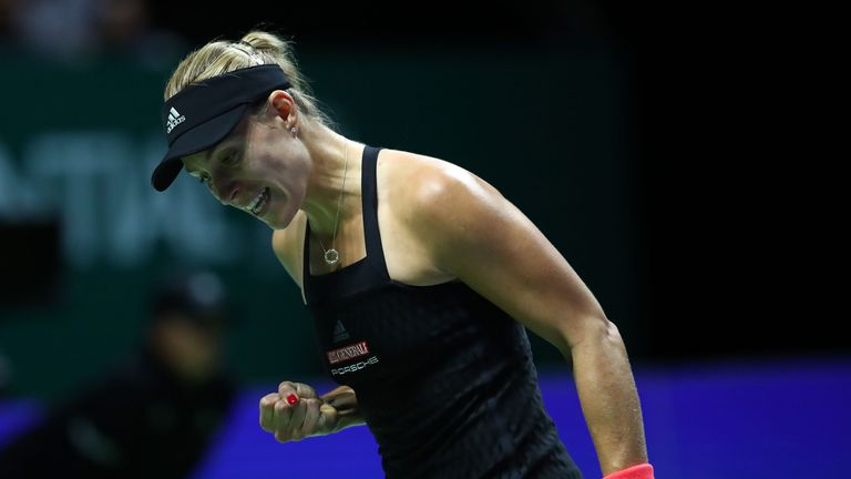 Kerber appeared on course for victory leading by a set and a break