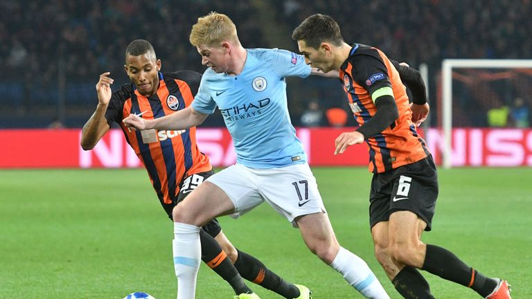 Kevin De Bruyne is set to make his second start of the season for Pep Guardiola's men