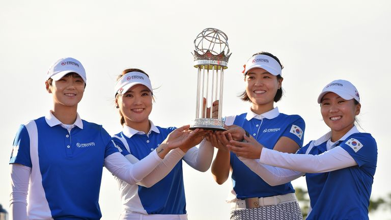 South Korea secured victory on home soil at the Jack Nicklaus Golf Club in Incheon