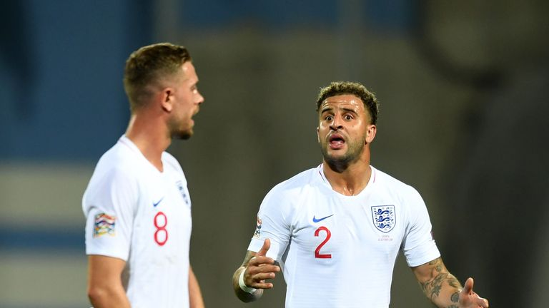 Kyle Walker and Jordan Henderson