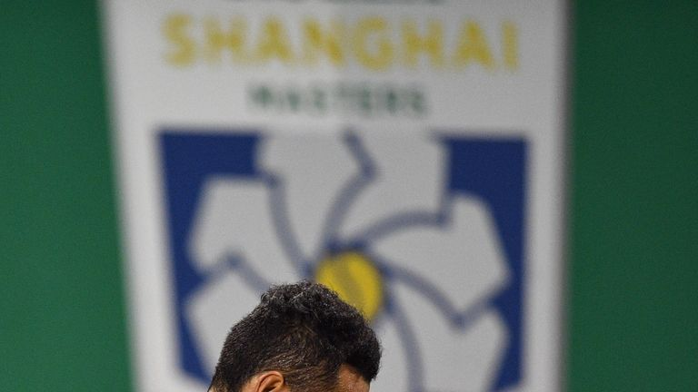 Nick Kyrgios rows with umpire during Shanghai Masters first-round exit