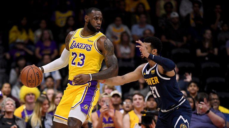 Lebron James loses on Los Angeles Lakers debut v Denver ...