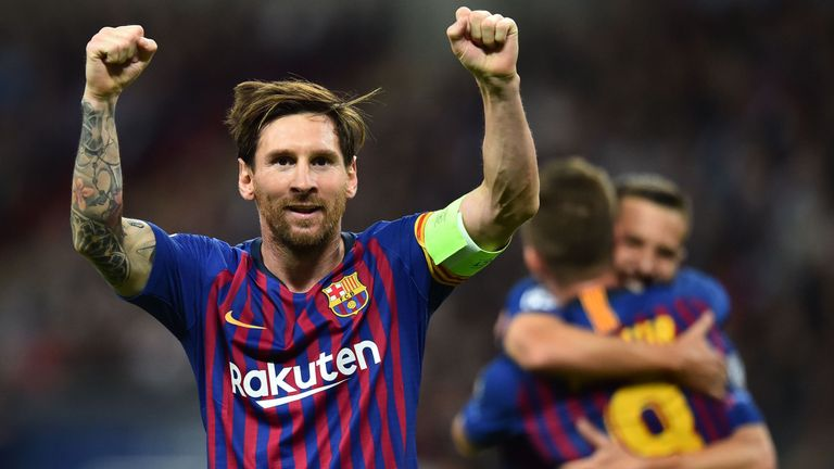 Lionel Messi put Barcelona 3-1 up immediately after Harry Kane's goal