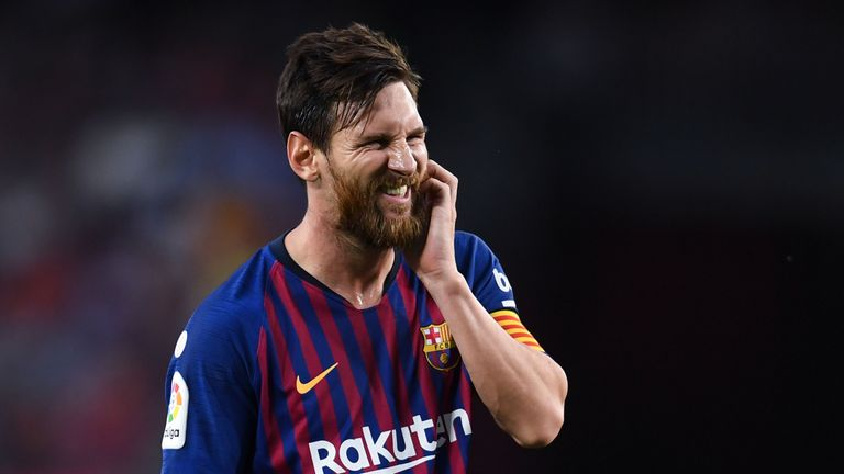 Barcelona talisman Lionel Messi will not feature on Wednesday
