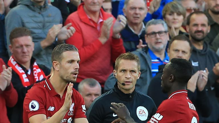Naby Keita is in the squad but Jordan Henderson has been left at home