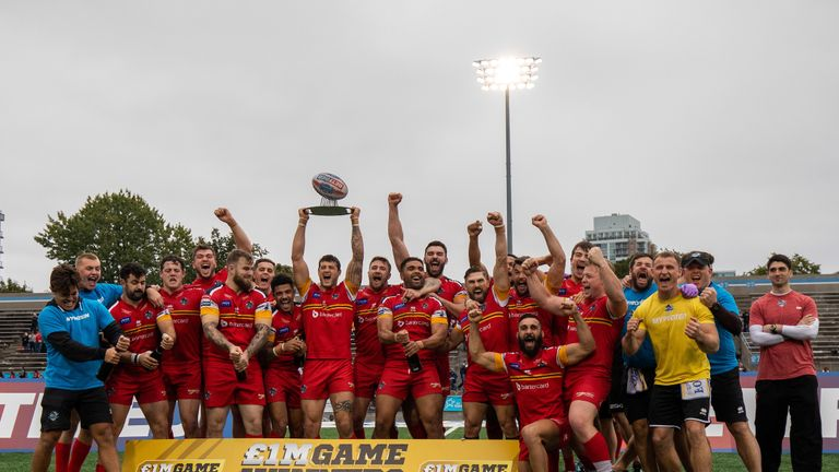 London Broncos were promoted to Super League after winning last year's Million Pound Game