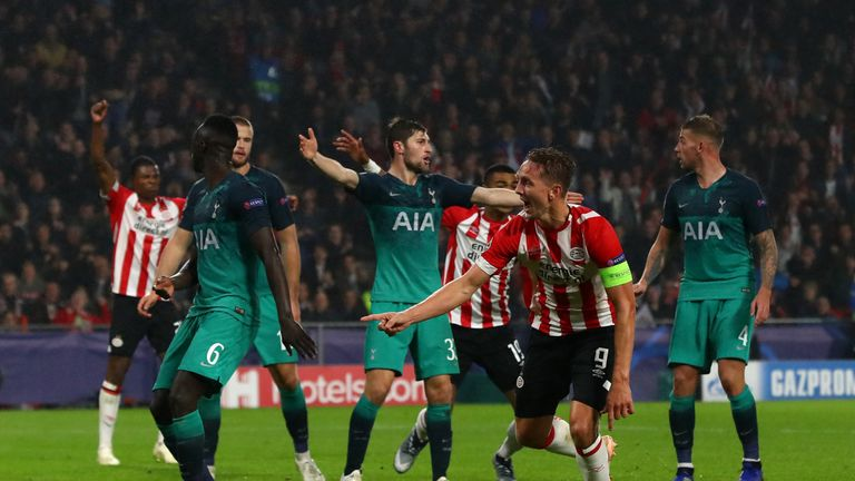 Tottenham drew in Eindhoven two weeks ago after letting slip a 2-1 lead.