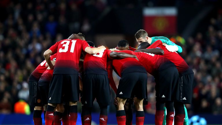 during the Group H match of the UEFA Champions League between Manchester United and Valencia at Old Trafford on October 2, 2018 in Manchester, United Kingdom.