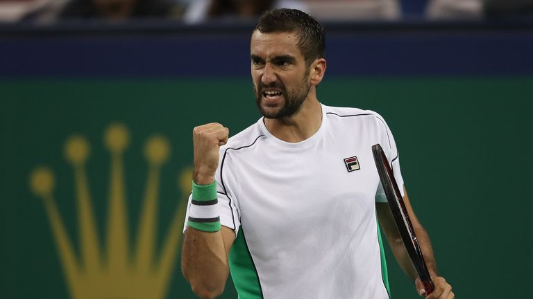 Marin Cilic beat young Canadian Denis Shapovalov in his opening match