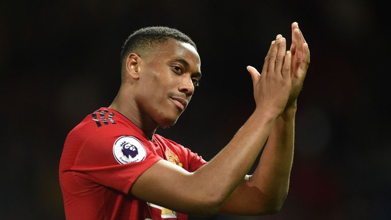Manchester United's Anthony Martial has been named in the France squad