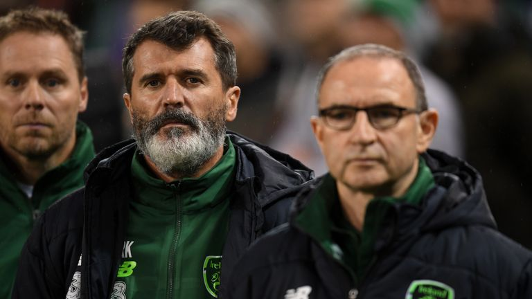Roy Keane is working as an assistant to Martin O'Neill with Republic of Ireland
