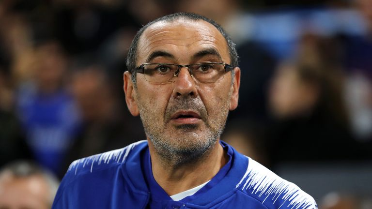 Maurizio Sarri's Chelsea are unbeaten in the Premier League this season