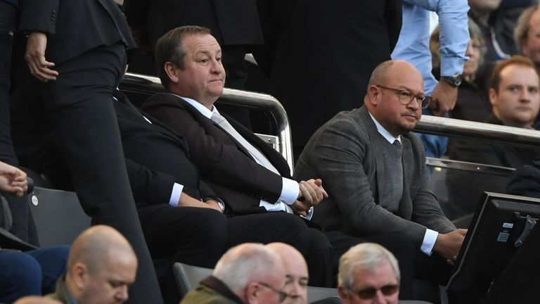 Mike Ashley was at a Newcastle home game for the first time in 16 months on Saturday