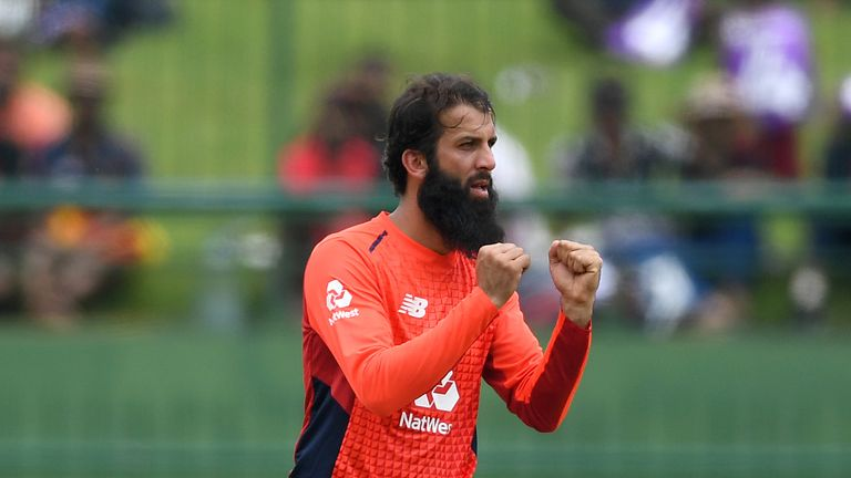 Moeen Ali dismissed both of Sri Lanka's set batsmen