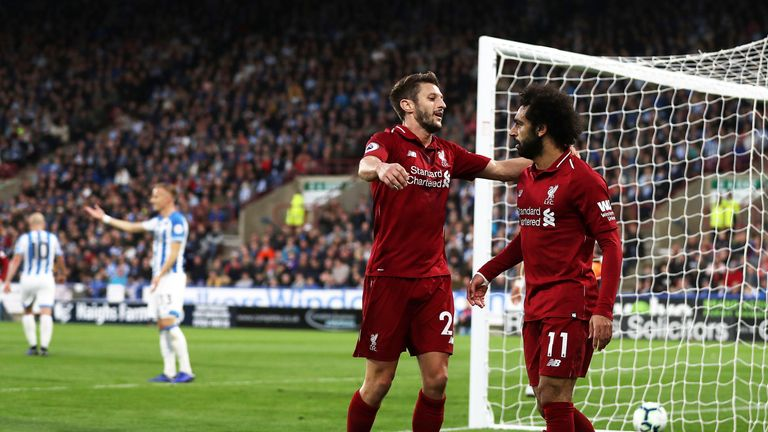 Adam Lallana made his first Premier League start since New Year's Day
