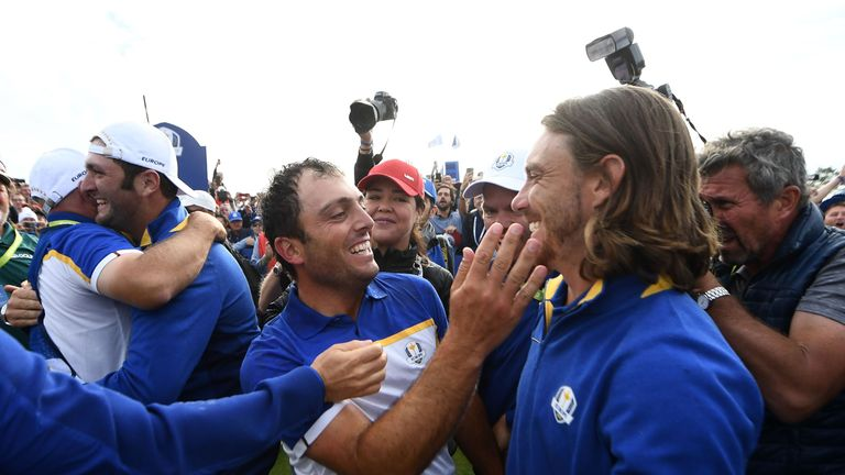 Molinari and Fleetwood formed a formidable partnership at Le Golf National