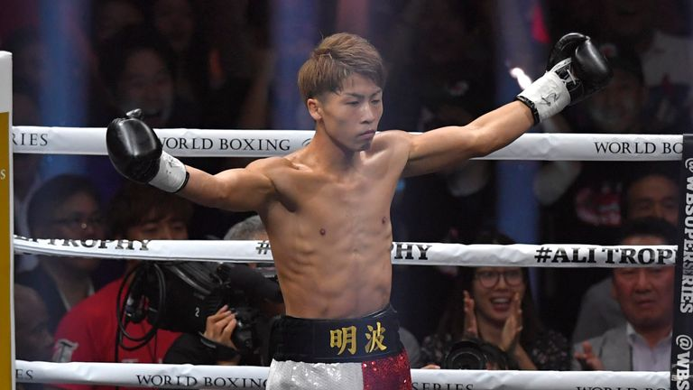 Naoya Inoue appears on the same bill as Taylor in Glasgow