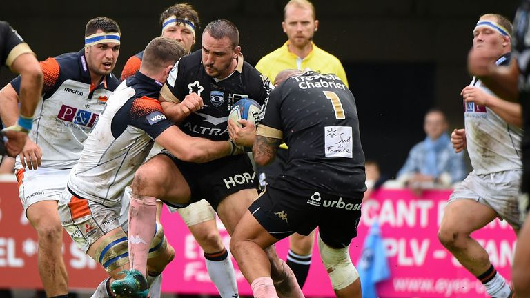 Montpellier flanker Louis Picamoles was a threat in both tight and loose play against Edinburgh
