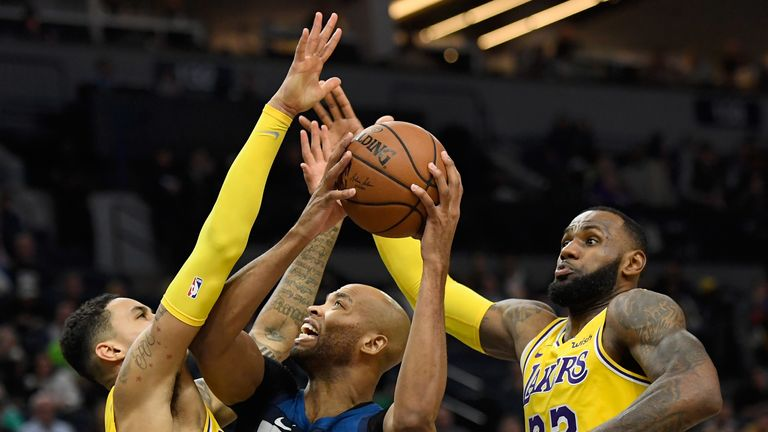lakers timberwolves nba