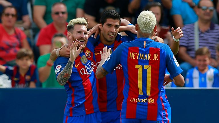 Neymar formed a prolific partnership with Lionel Messi and Luis Suarez at Barcelona