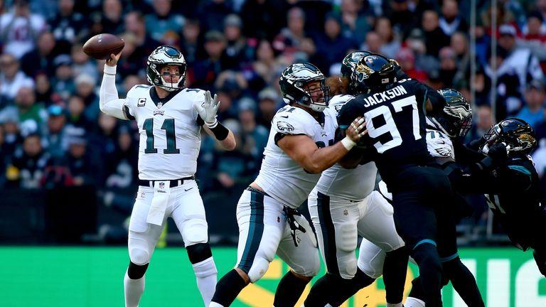 Philadelphia Eagles 24-18 Jacksonville Jaguars: Carson Wentz throws three touchdowns in win