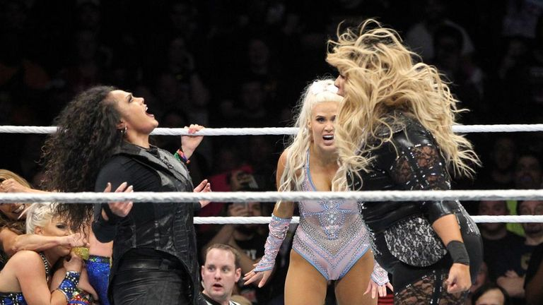 Nia Jax and Tamina paid tribute to Roman Reigns during the battle royal
