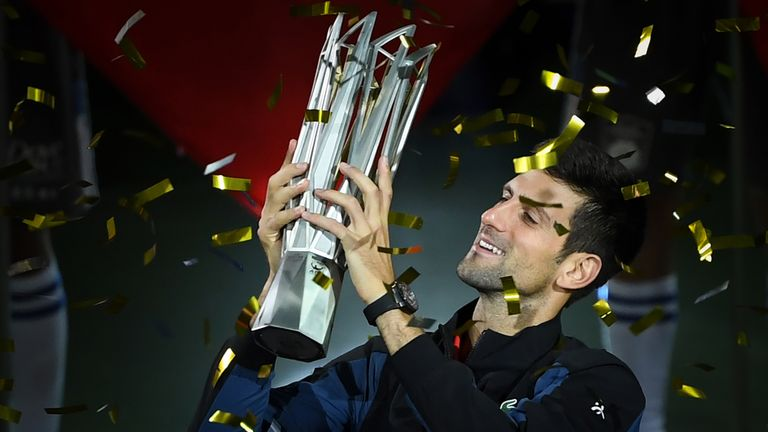 Djokovic won a record fourth Shanghai Masters title in October