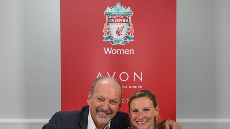 Peter Moore congratulates Vicky Jepson on her new role