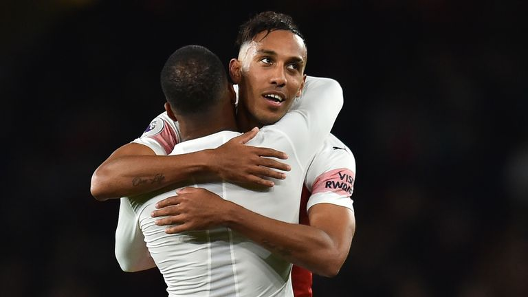 Pierre-Emerick Aubameyang's goal to put Arsenal 3-1 up was simply superb