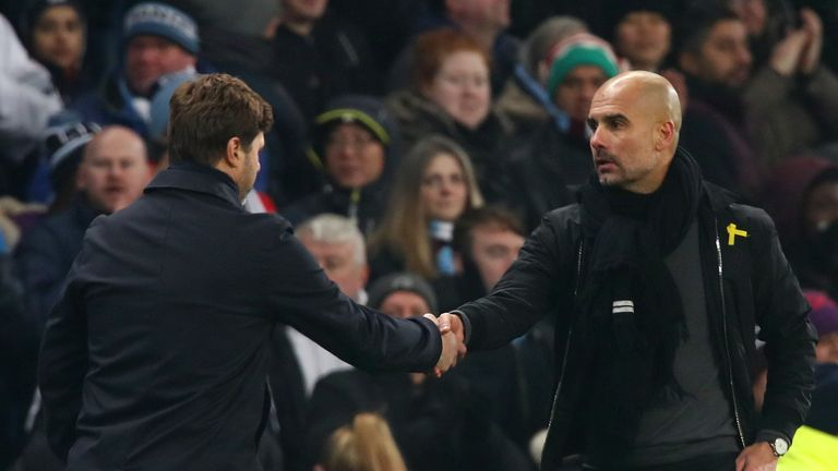 Pochettino greets Guardiola