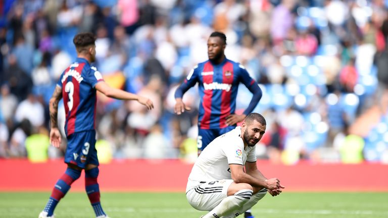 Real Madrid were shocked by Levante in La Liga on Saturday