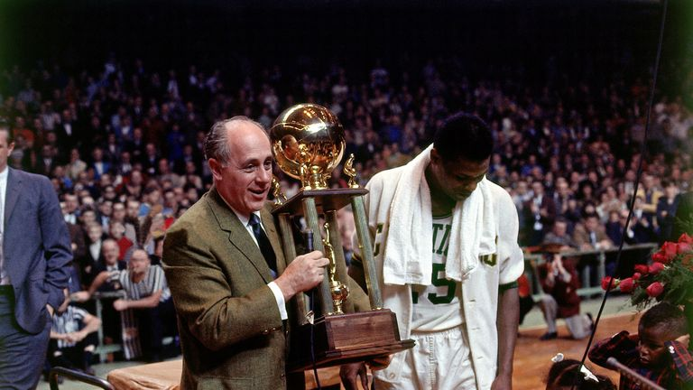 Red Auerbach lead the Celtics to eight straight Championships in the 50s and 60s.