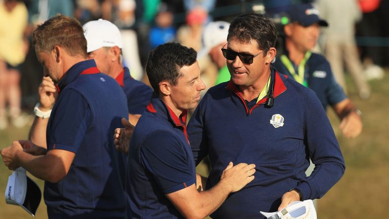 Harrington has also received backing from Rory McIlroy