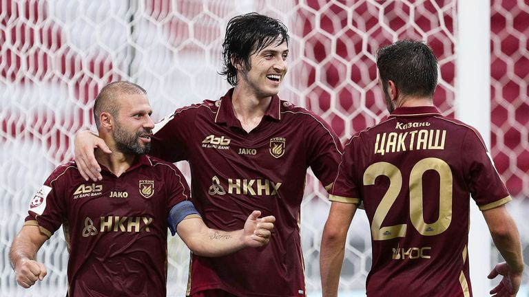 Sardar Azmoun (C) has been playing his club football in Russia for the past six years