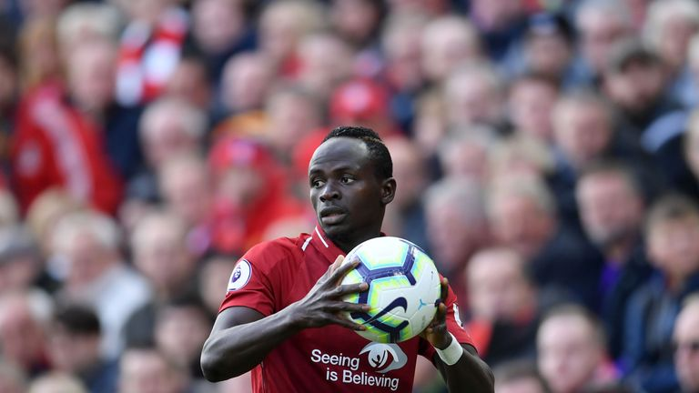 Sadio Mane in action for Liverpool in the Premier League
