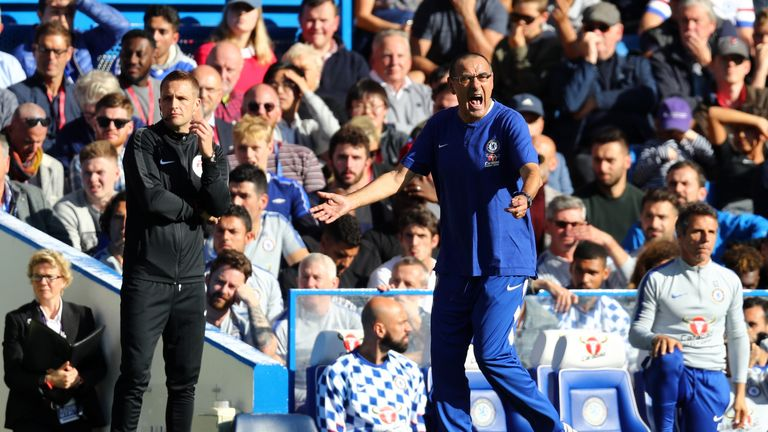 Maurizio Sarri has overseen a change in style of play at Stamford Bridge