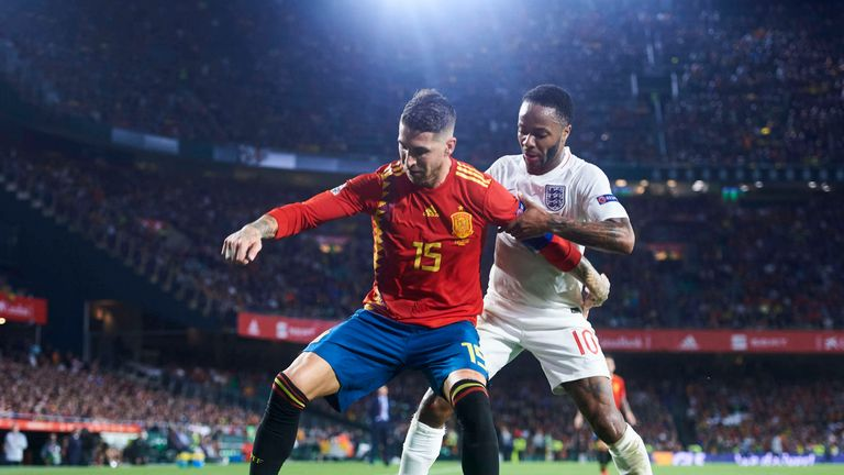 Sergio Ramos called out Raheem Sterling on Twitter