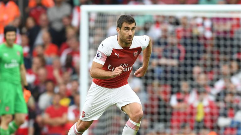 Arsenal will be without the suspended Sokratis Papastathopoulos