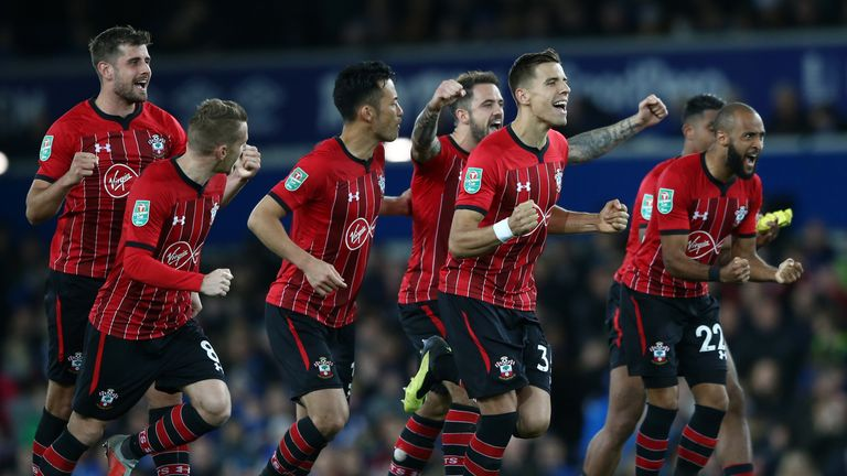 Southampton beat Everton on penalties in the Carabao Cup in midweek