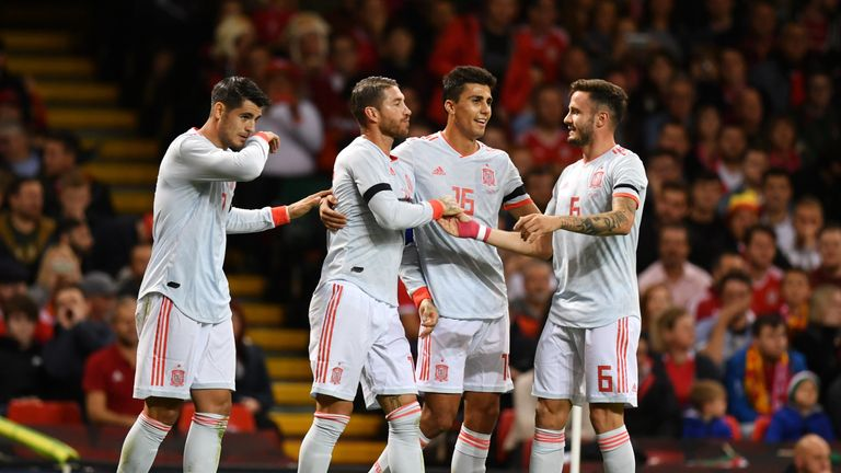 Spain face England in the UEFA Nations League on Monday