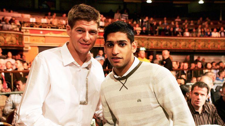 Ex-Liverpool captain Steven Gerrard is a boxing fan