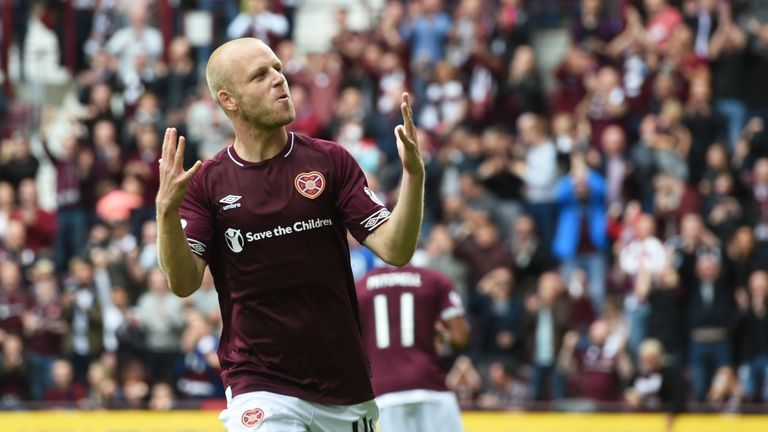 Naismith has been in red-hot form with 13 goals this season for Hearts and Scotland
