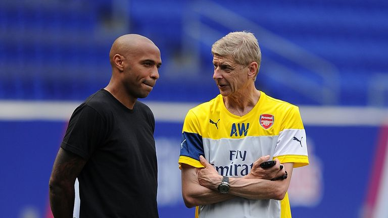Thierry Henry and Arsene Wenger enjoyed great success together at Arsenal