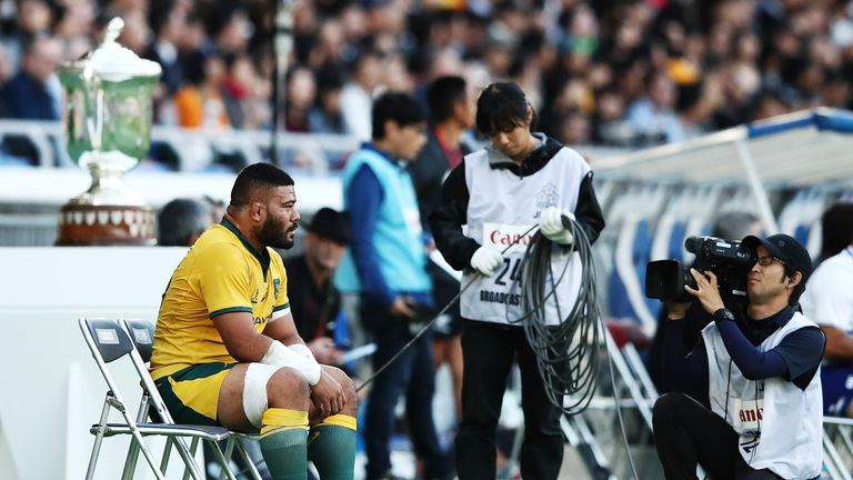 Wallabies hooker Tolu Latu was sin-binned after reacting to provocation from opposite number Codie Taylor